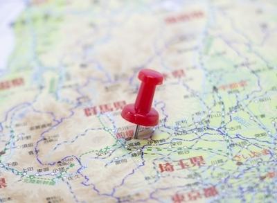群馬を示す地図