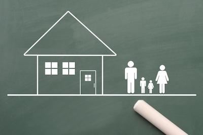 家族と家の画像