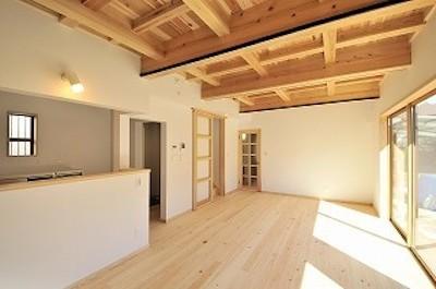 地元産の木材を使った家