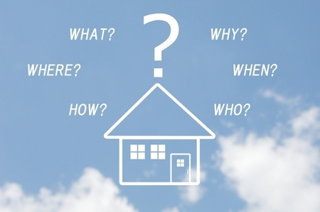 青空に浮かぶ家