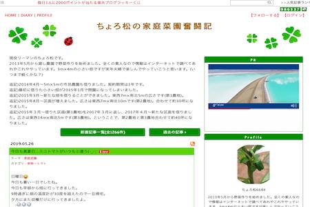 ちょろ松の家庭菜園奮闘記