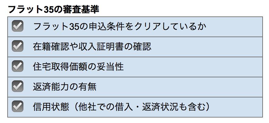 フラット35審査基準