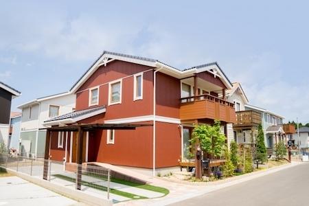 アメリカンスタイルの家のイメージ画像