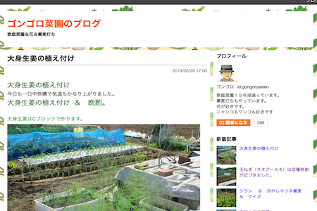 ゴンゴロ菜園のブログ
